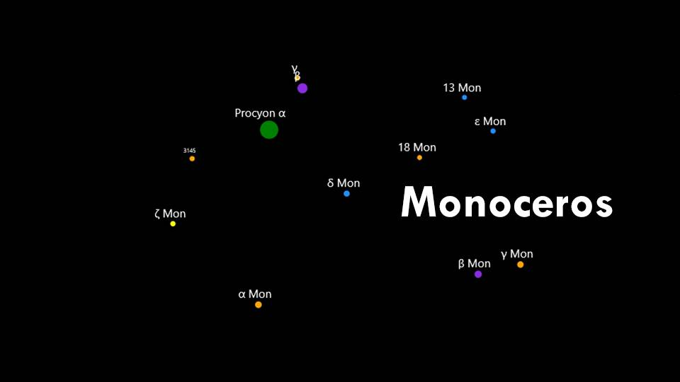 Constellations Canis Minor and Monoceros