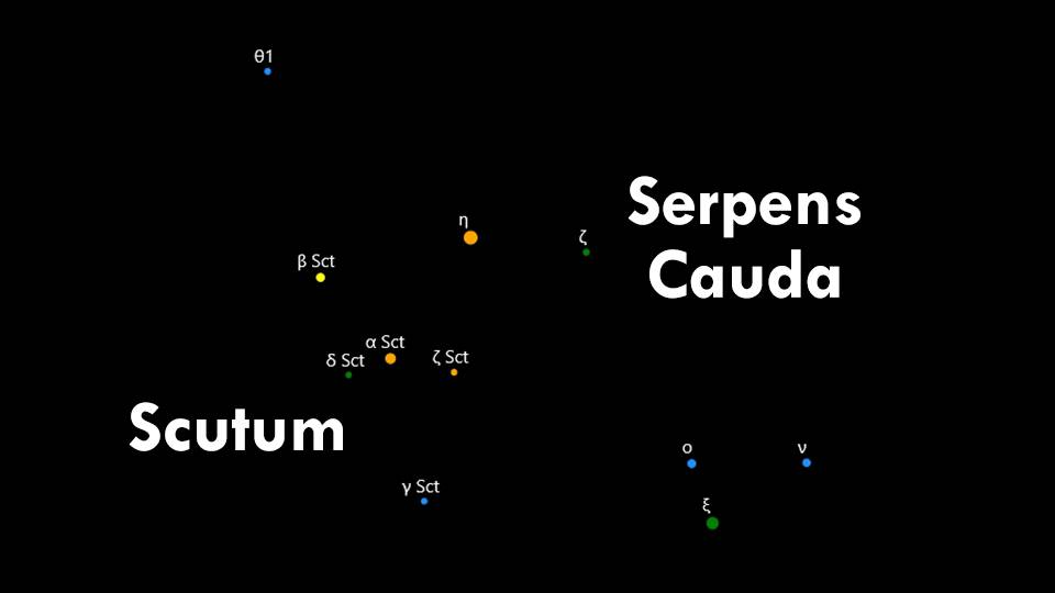 Constellations Scutum and Serpens Cauda