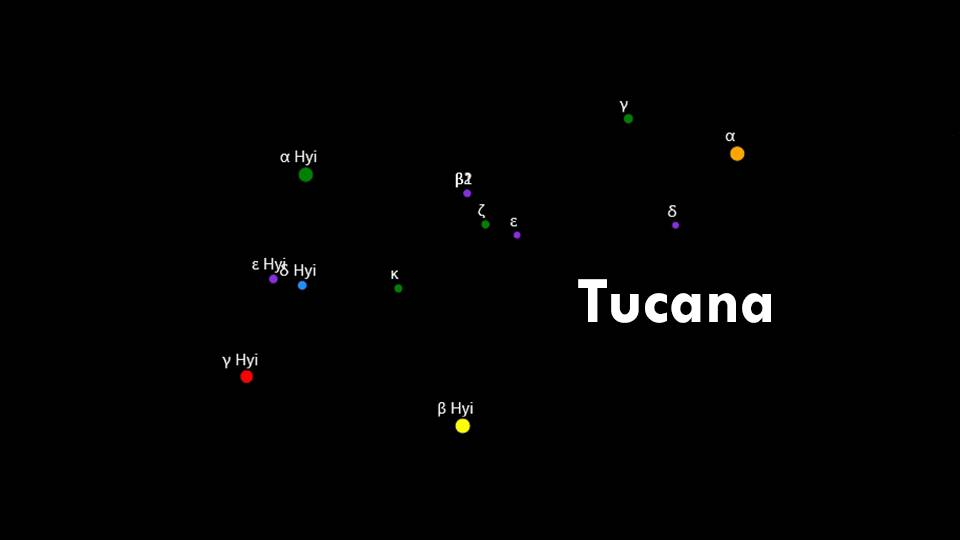 Constellations Hydrus and Tucana