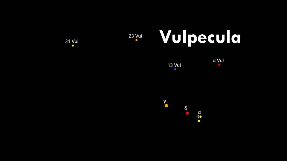 Constellations Sagitta and Vulpecula