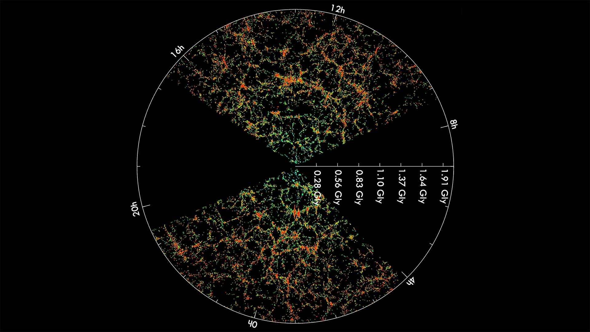 Sloan Digital Sky Survey Slice of the Universe